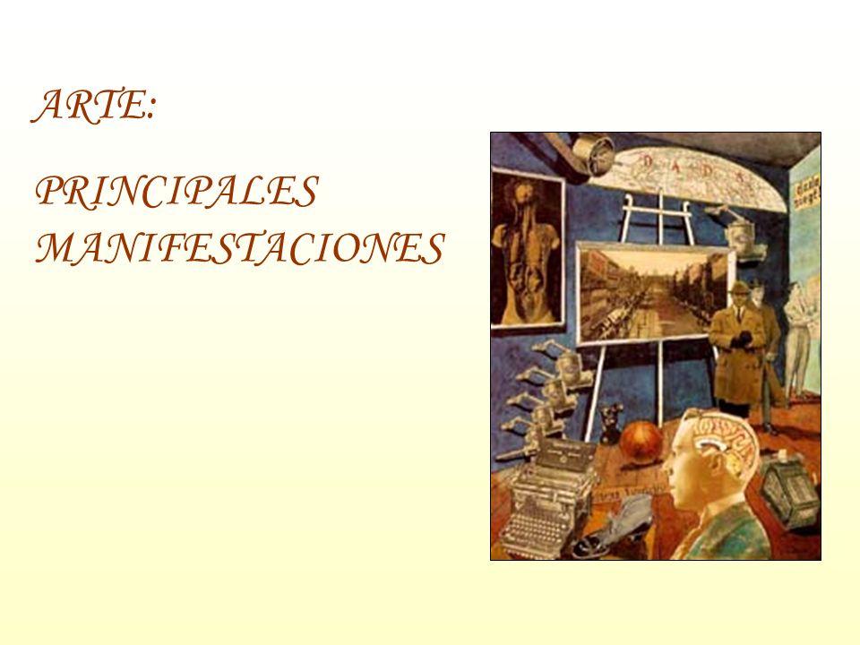 ARTE: PRINCIPALES MANIFESTACIONES