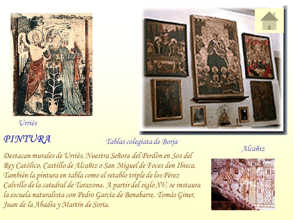 PINTURA Urriés Tablas colegiata de Borja