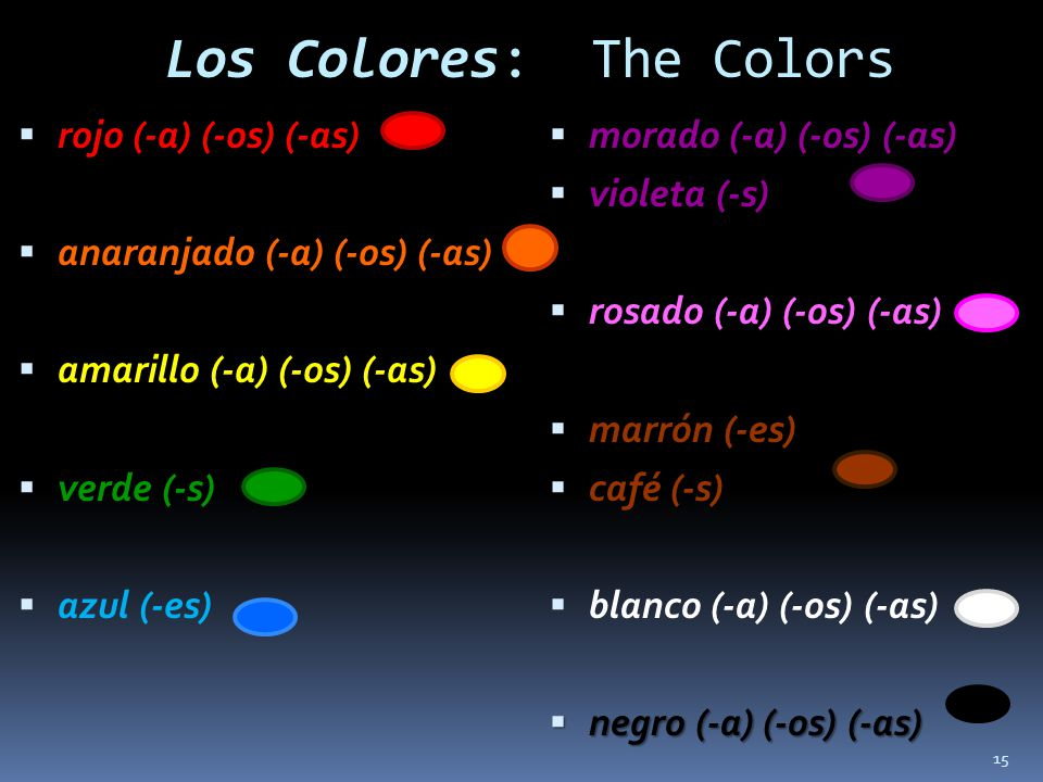 Los Colores: The Colors