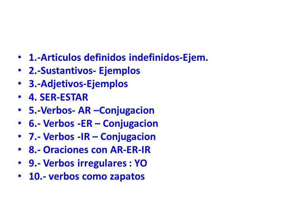 1.-Articulos definidos indefinidos-Ejem.