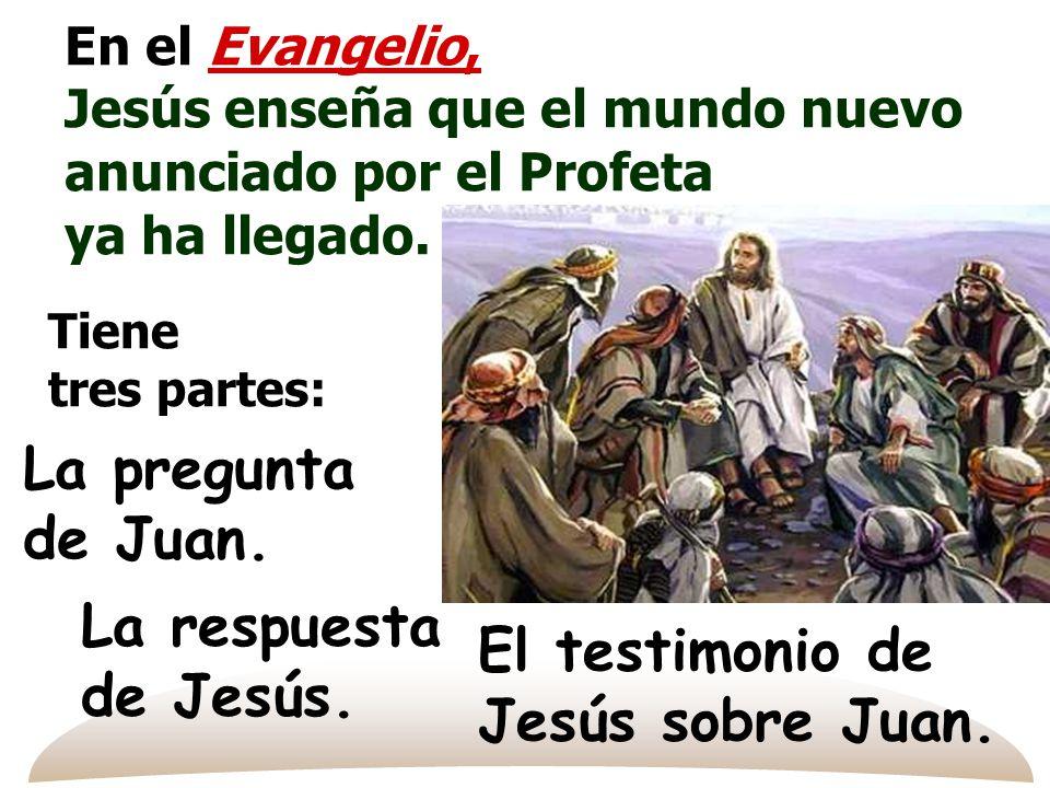 El testimonio de Jesús sobre Juan.