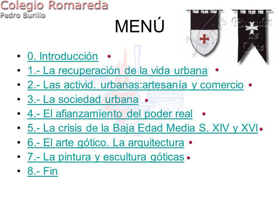 MENÚ 0. Introducción 1.- La recuperación de la vida urbana
