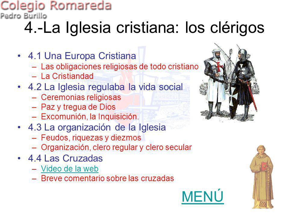 4.-La Iglesia cristiana: los clérigos