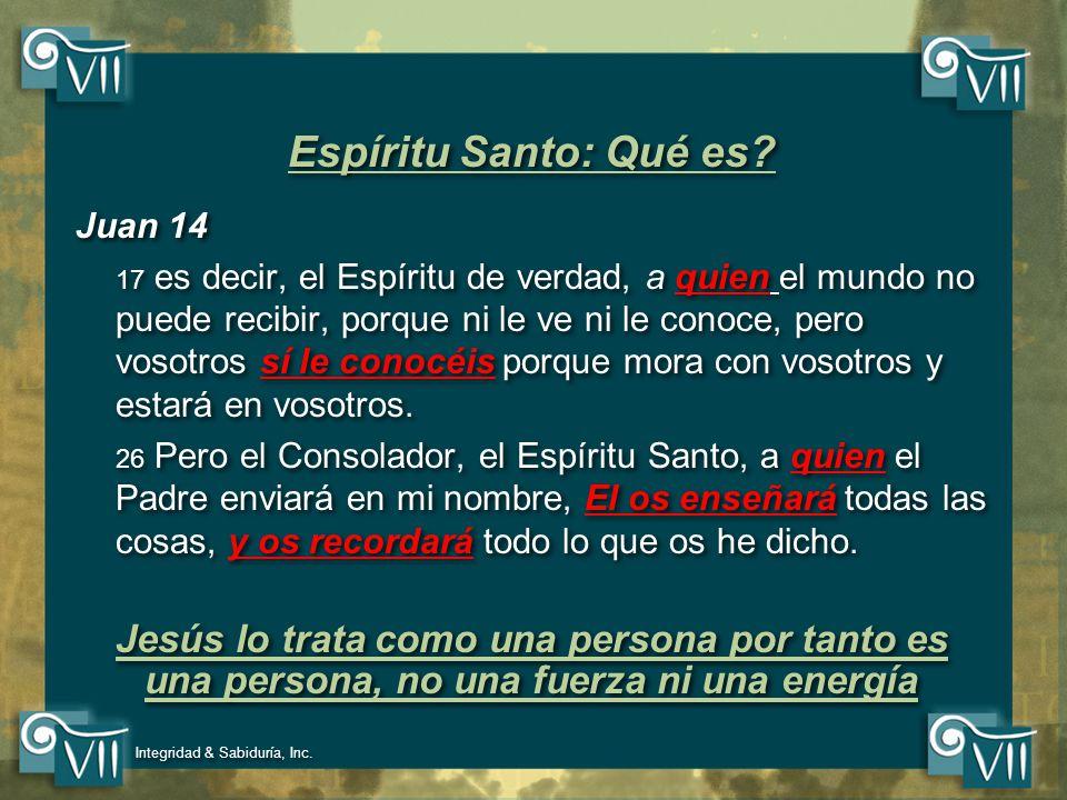 Espíritu Santo: Qué es Juan 14.