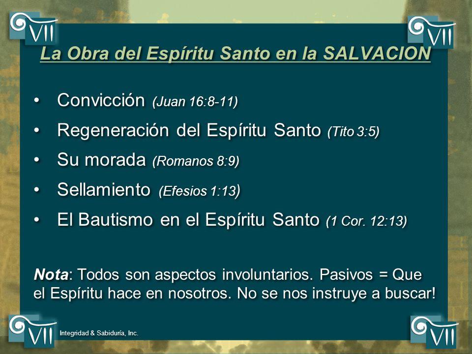 La Obra del Espíritu Santo en la SALVACION