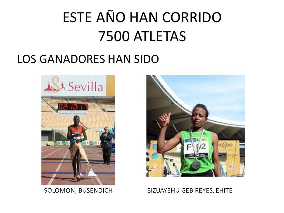 ESTE AÑO HAN CORRIDO 7500 ATLETAS
