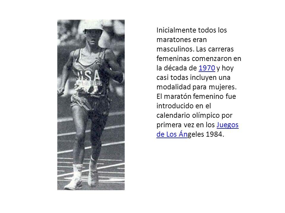Inicialmente todos los maratones eran masculinos