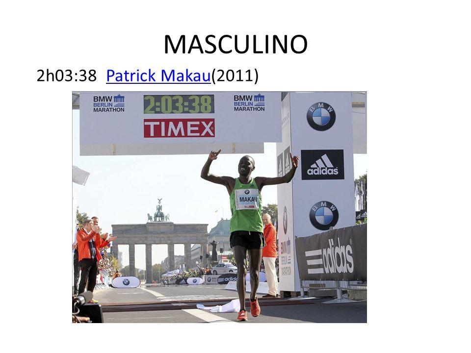 MASCULINO 2h03:38 Patrick Makau(2011)
