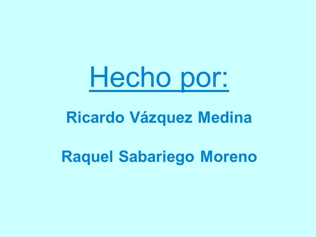 Hecho por: Ricardo Vázquez Medina Raquel Sabariego Moreno