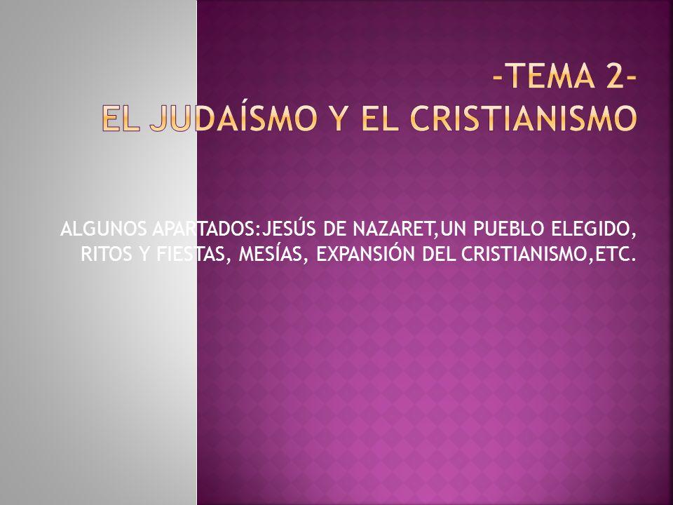 -Tema 2- EL JUDAÍSMO Y EL CRISTIANISMO