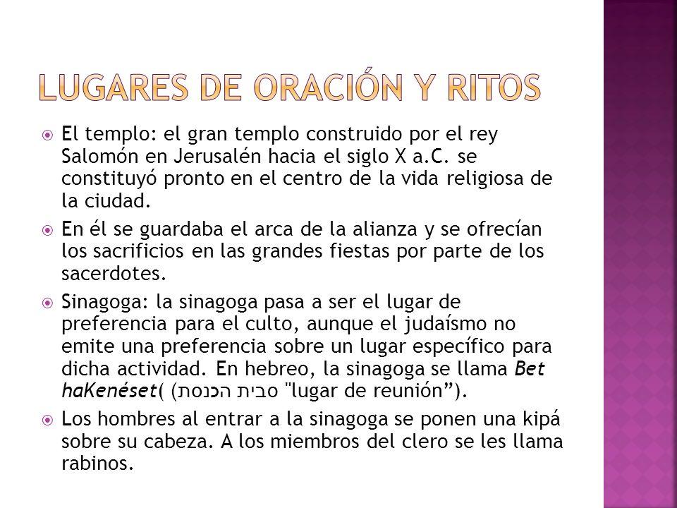 Lugares de oración y ritos