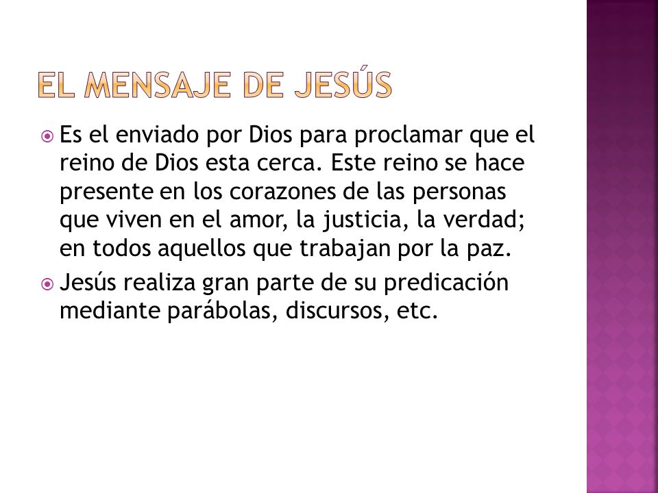 EL MENSAJE DE Jesús