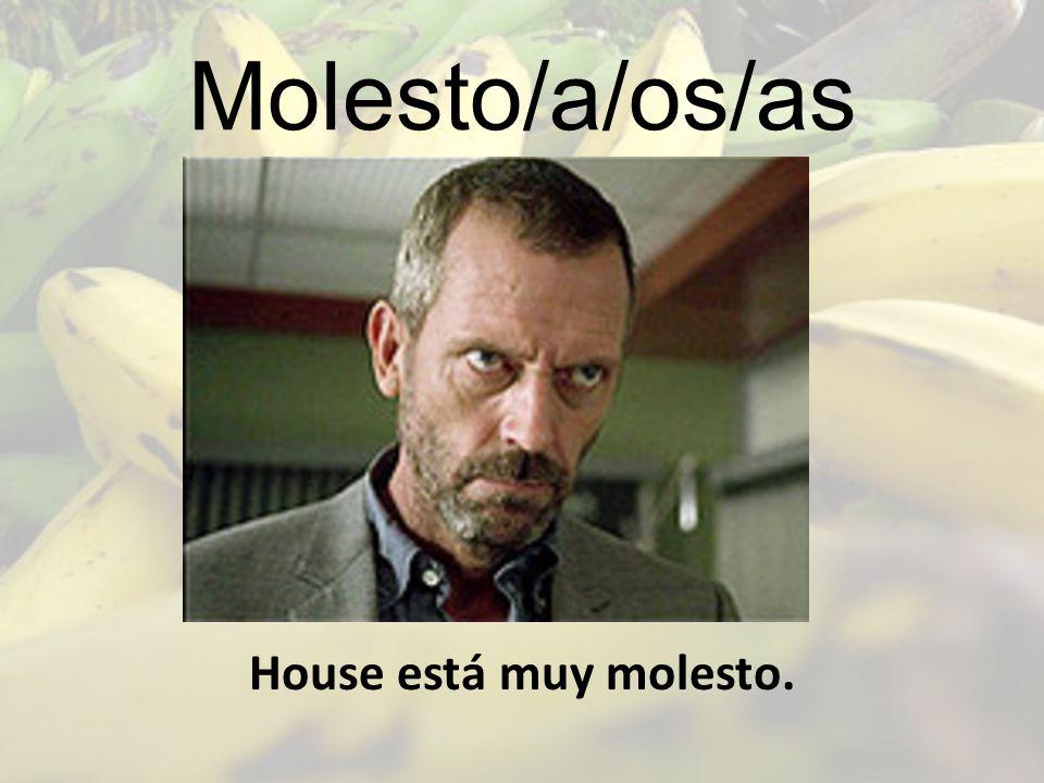 Molesto/a/os/as House está muy molesto.
