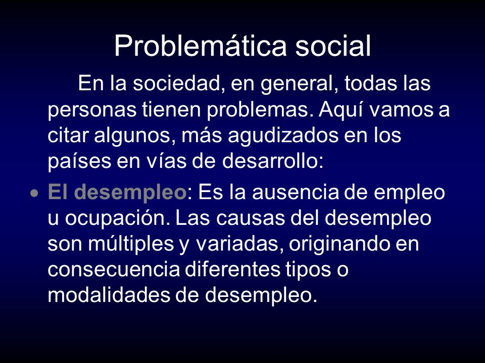 Problemática social