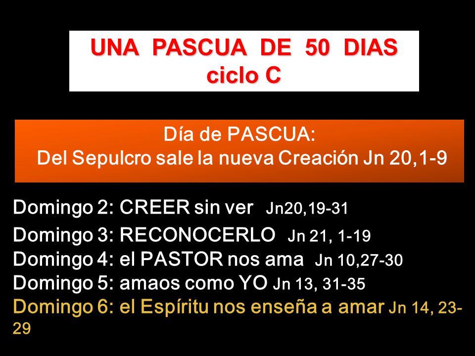 Día de PASCUA: Del Sepulcro sale la nueva Creación Jn 20,1-9