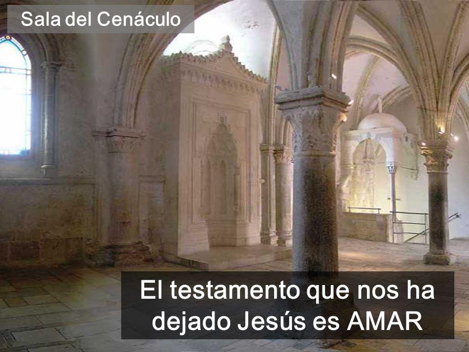 El testamento que nos ha dejado Jesús es AMAR