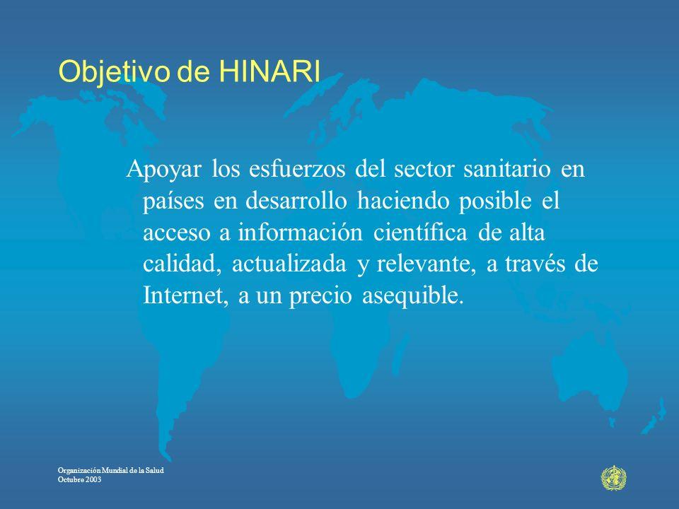 Objetivo de HINARI