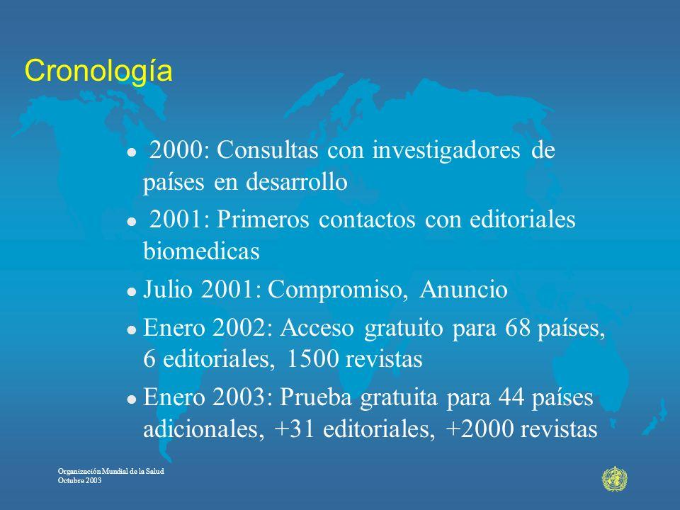 Cronología 2000: Consultas con investigadores de países en desarrollo