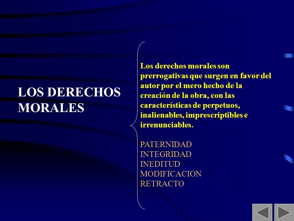 LOS DERECHOS MORALES
