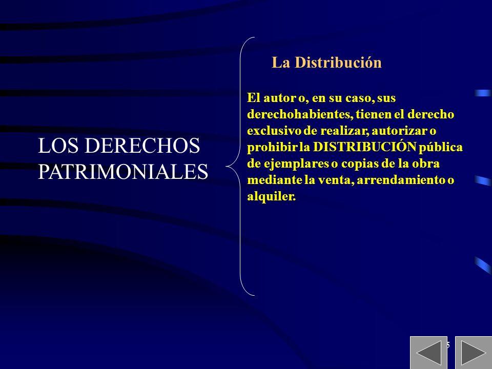 LOS DERECHOS PATRIMONIALES