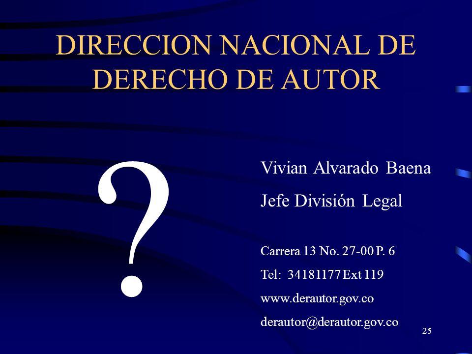 DIRECCION NACIONAL DE DERECHO DE AUTOR
