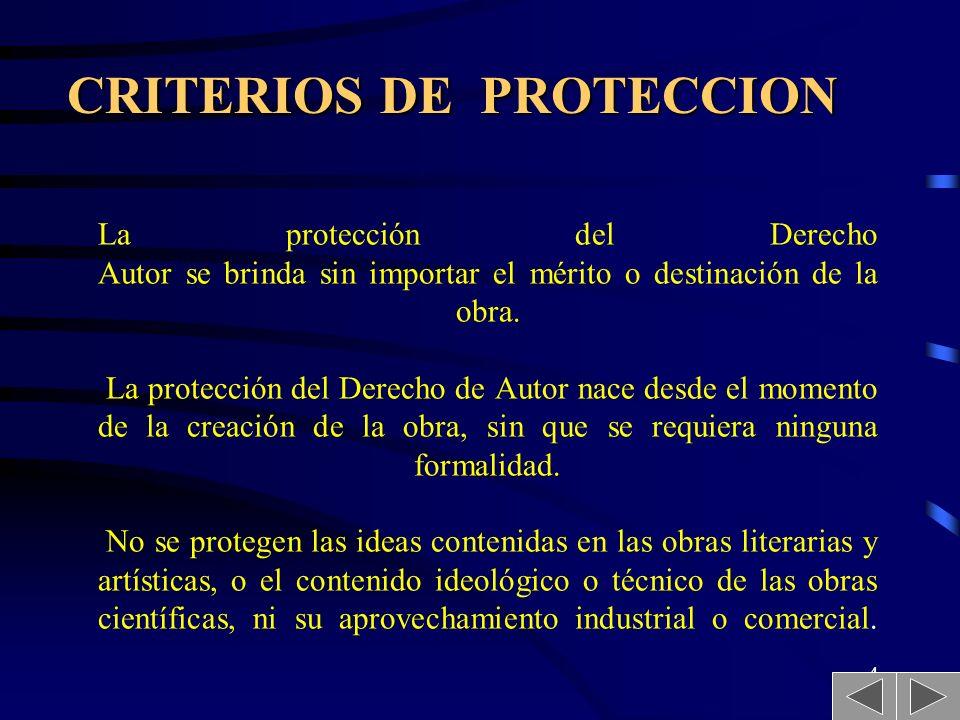 CRITERIOS DE PROTECCION