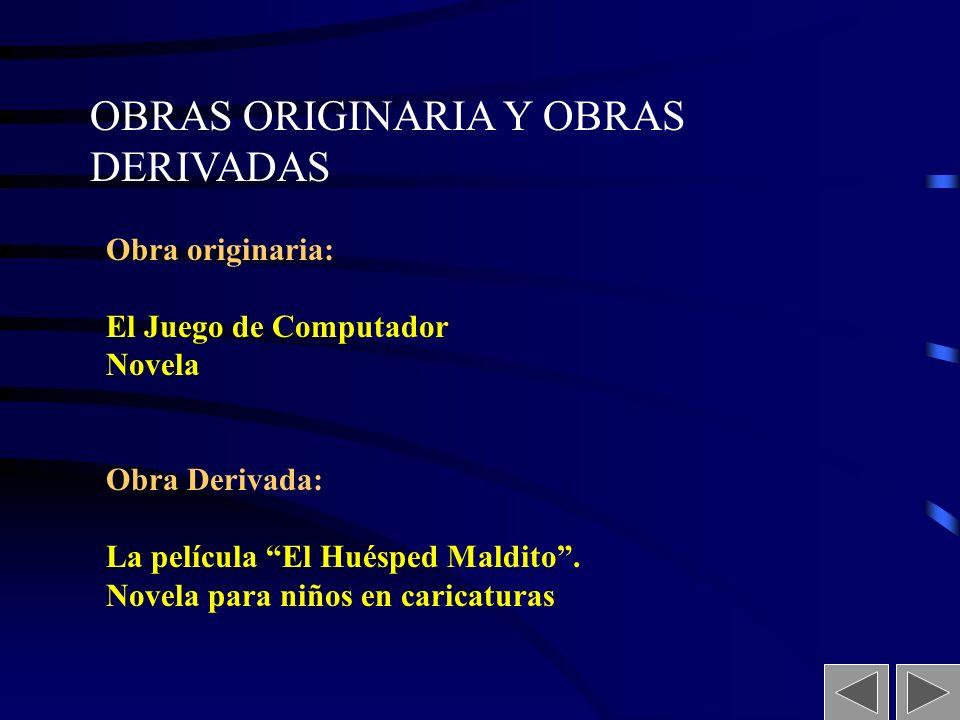 OBRAS ORIGINARIA Y OBRAS DERIVADAS