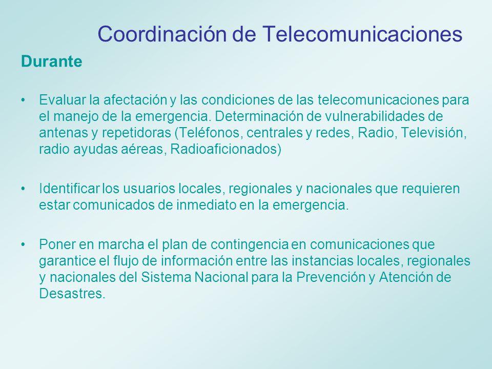 Coordinación de Telecomunicaciones