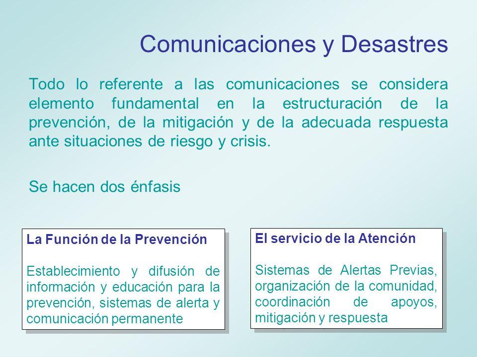 Comunicaciones y Desastres