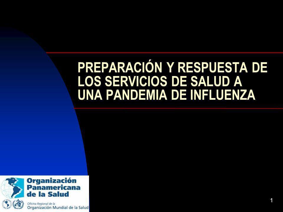 PREPARACIÓN Y RESPUESTA DE LOS SERVICIOS DE SALUD A UNA PANDEMIA DE INFLUENZA