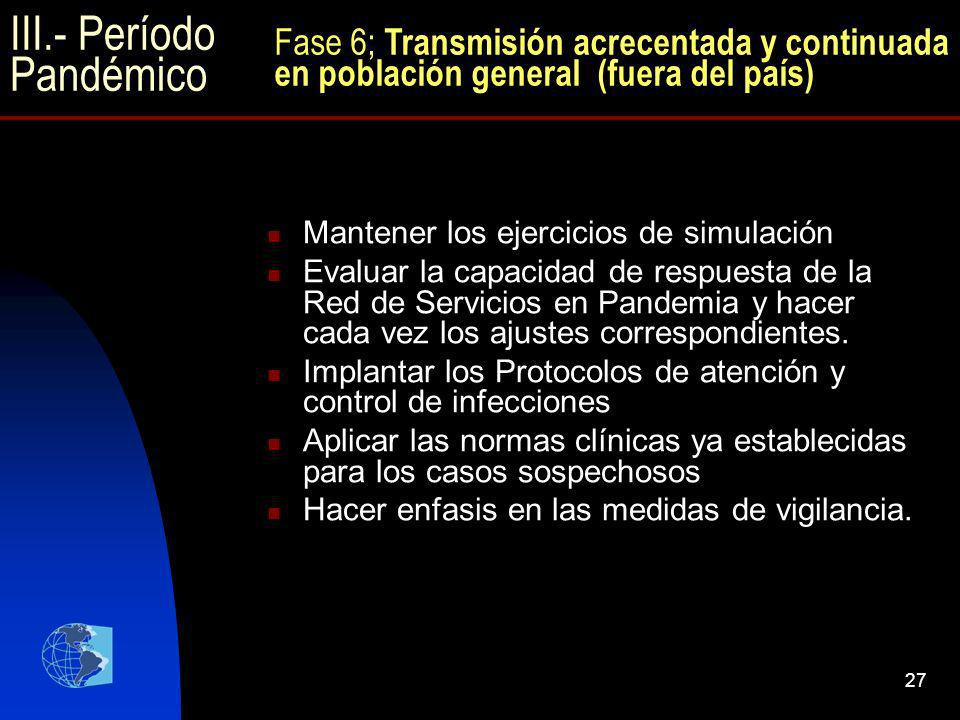 III.- Período Pandémico