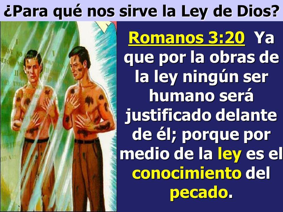 ¿Para qué nos sirve la Ley de Dios