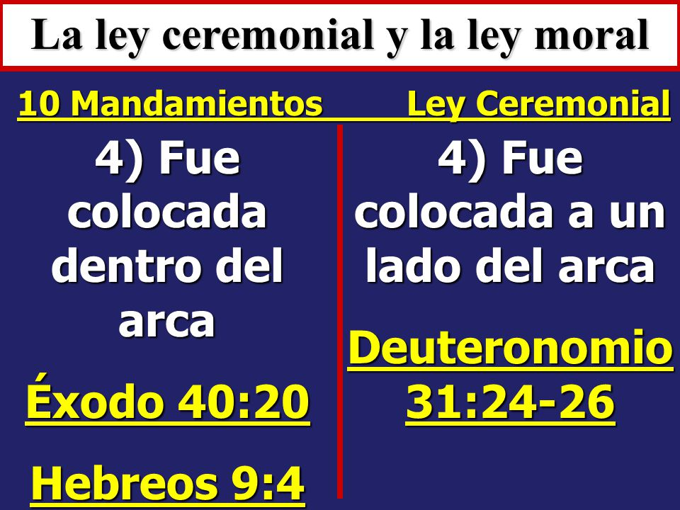 La ley ceremonial y la ley moral