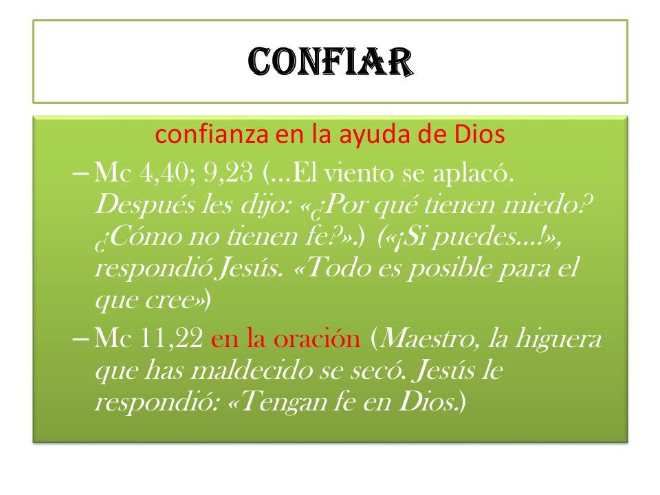 confianza en la ayuda de Dios