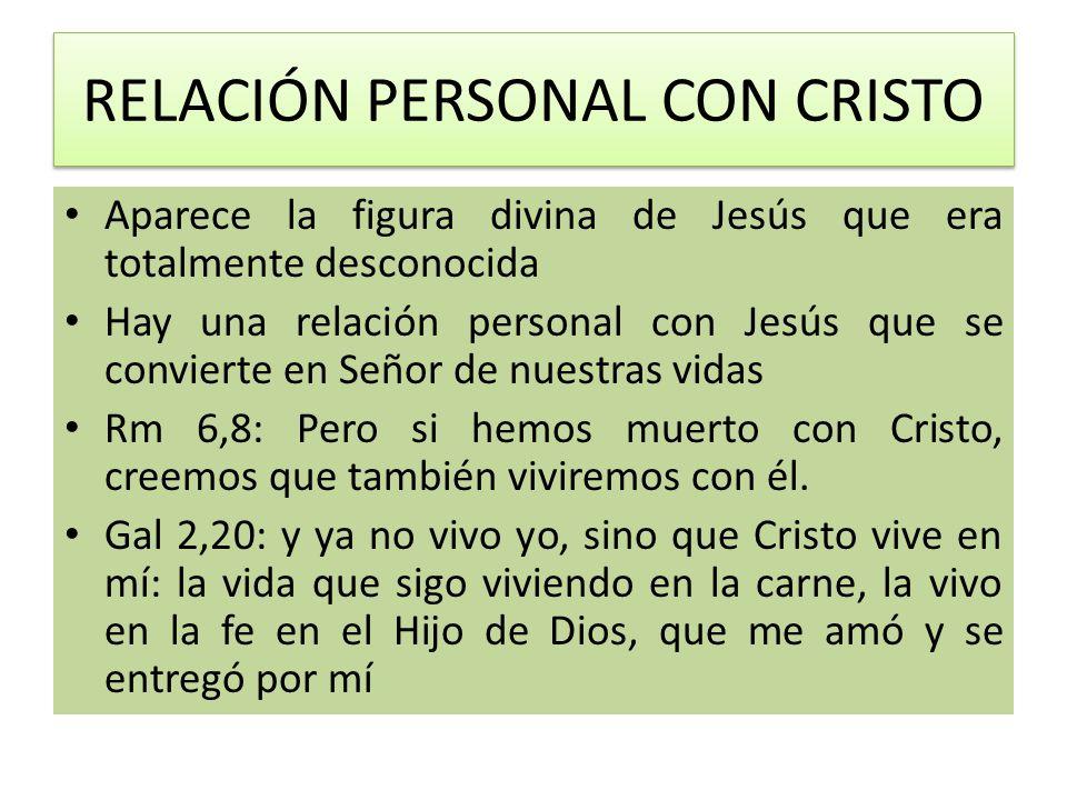 RELACIÓN PERSONAL CON CRISTO