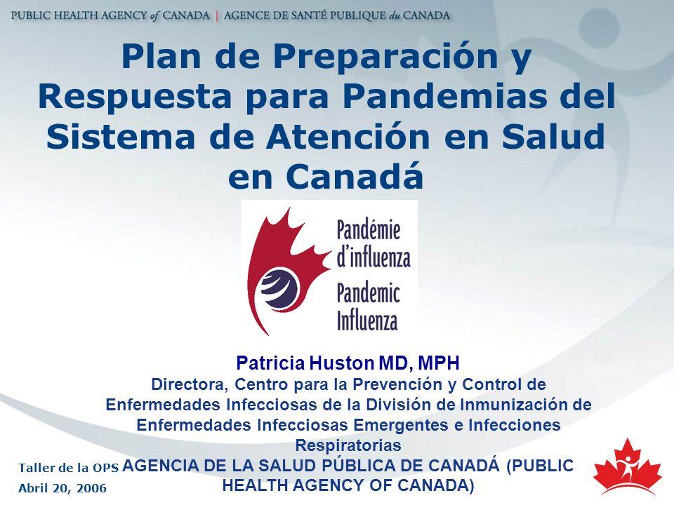 AGENCIA DE LA SALUD PÚBLICA DE CANADÁ (PUBLIC HEALTH AGENCY OF CANADA)