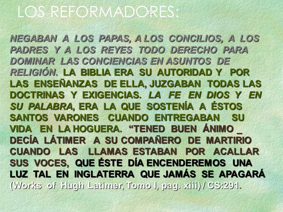 LOS REFORMADORES: