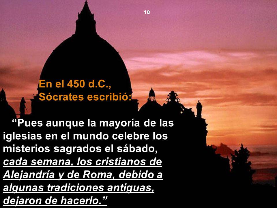 En el 450 d.C., Sócrates escribió: