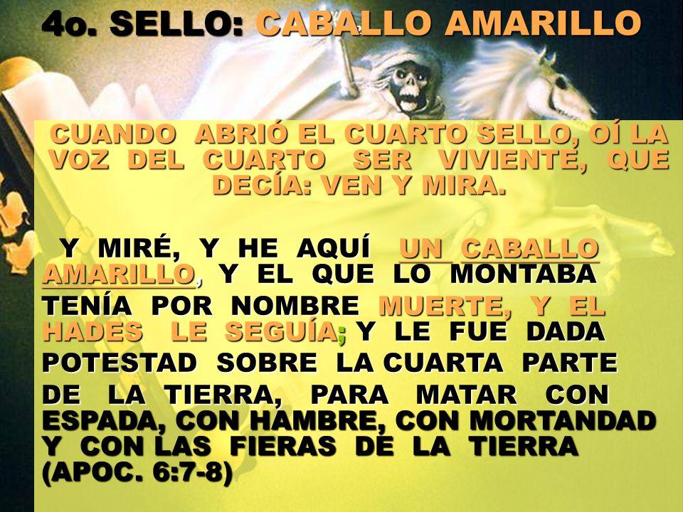 4o. SELLO: CABALLO AMARILLO