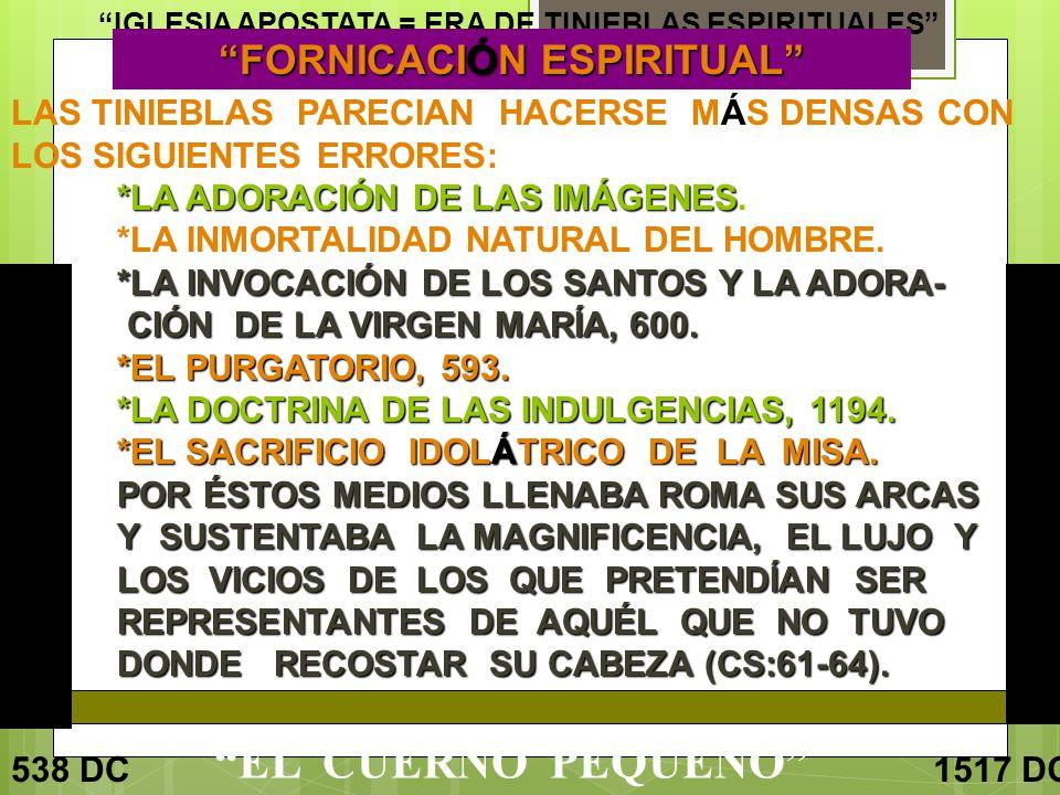 FORNICACIÓN ESPIRITUAL