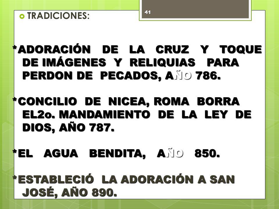 *ESTABLECIÓ LA ADORACIÓN A SAN JOSÉ, AÑO 890.