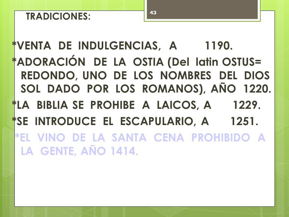 *VENTA DE INDULGENCIAS, AÑO 1190.