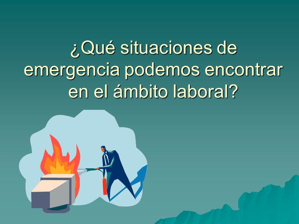 ¿Qué situaciones de emergencia podemos encontrar en el ámbito laboral