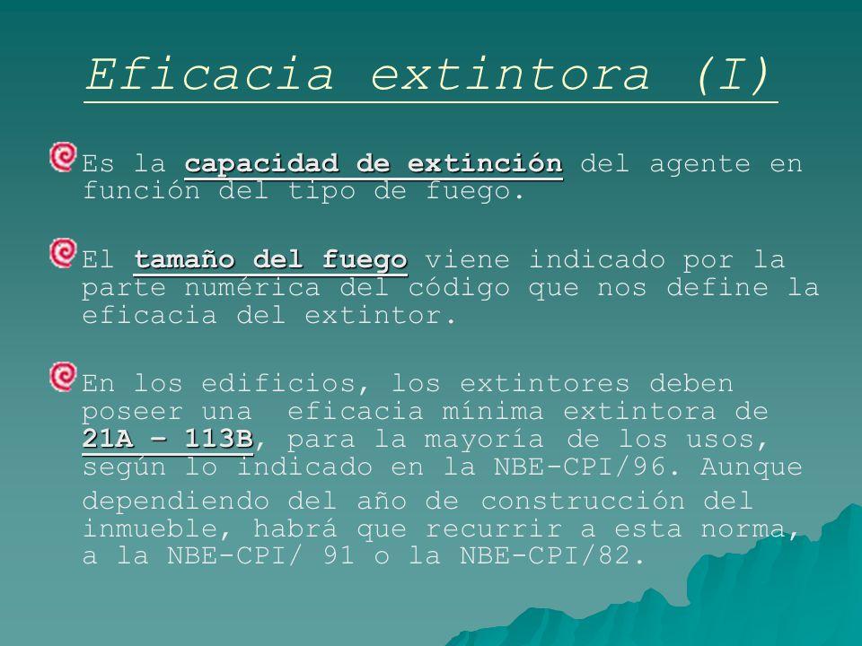 Eficacia extintora (I)