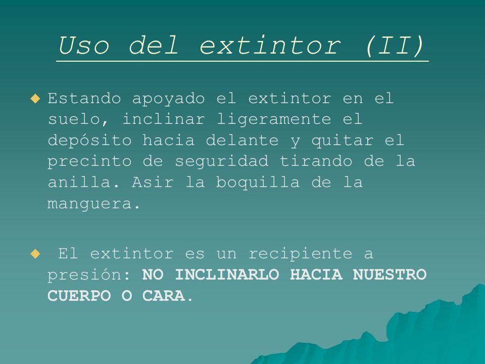 Uso del extintor (II)