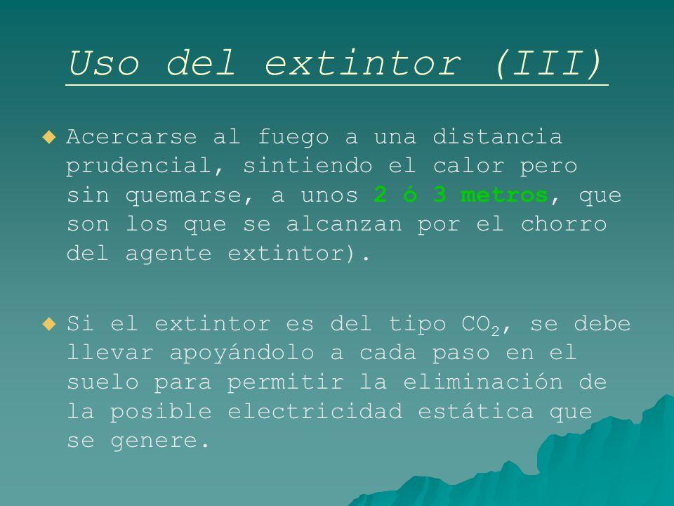 Uso del extintor (III)