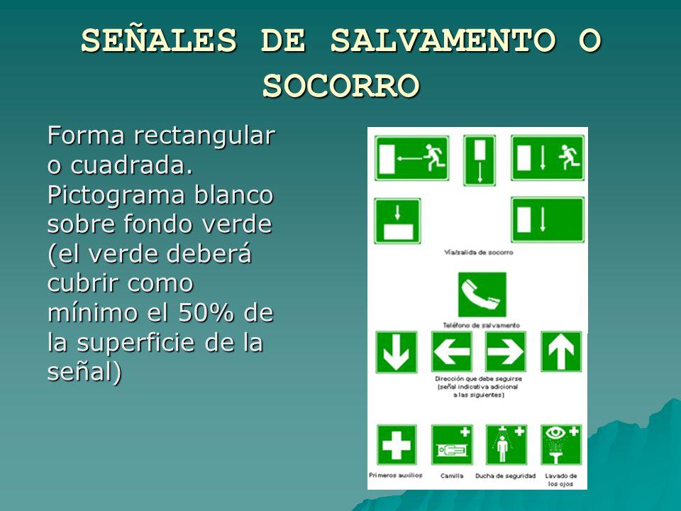 SEÑALES DE SALVAMENTO O SOCORRO