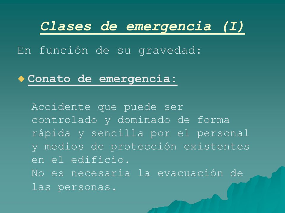 Clases de emergencia (I)