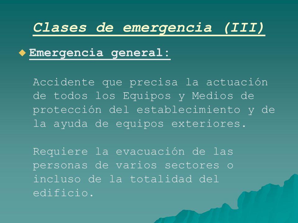 Clases de emergencia (III)