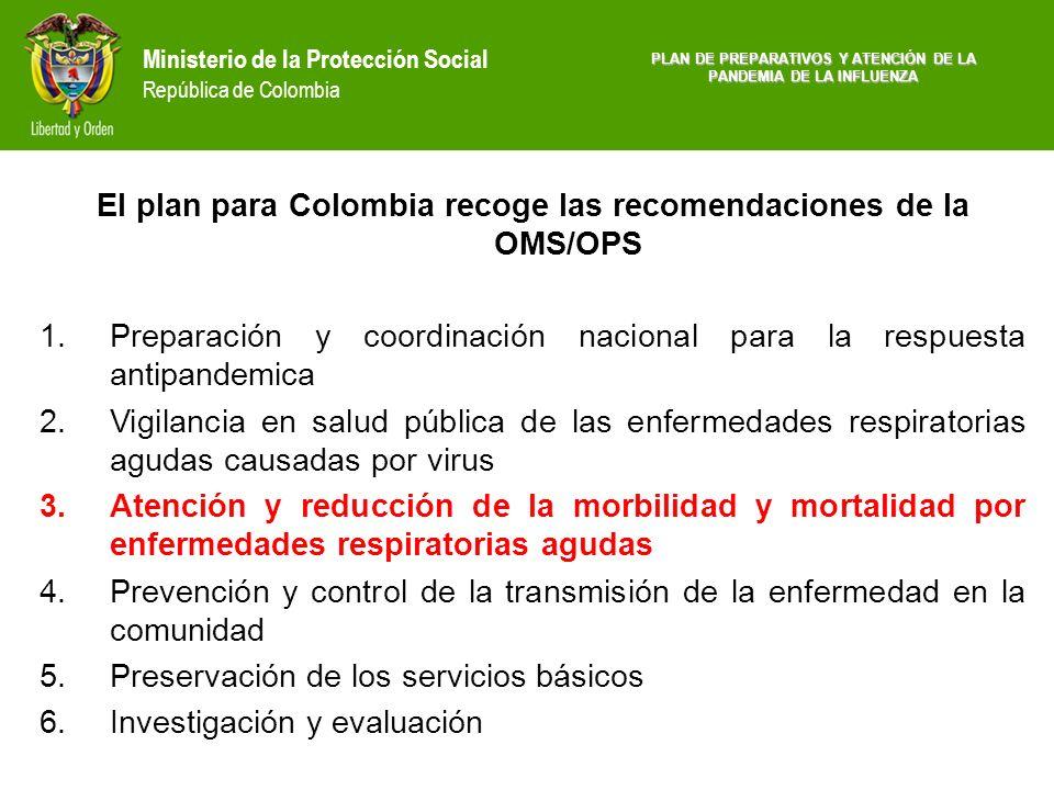 El plan para Colombia recoge las recomendaciones de la OMS/OPS